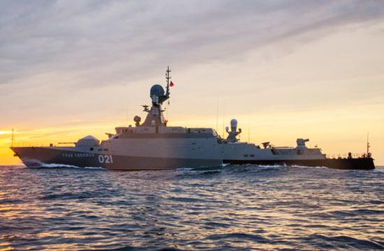 俄海军新型酷帅隐身战舰亮瞎眼