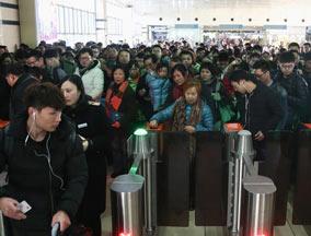 春运1100万人次将乘火车离沪
