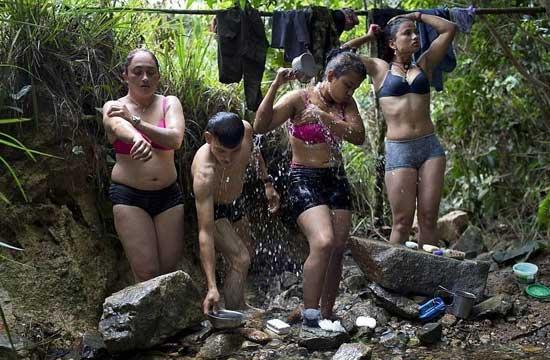 哥伦比亚女游击队员的丛林生活