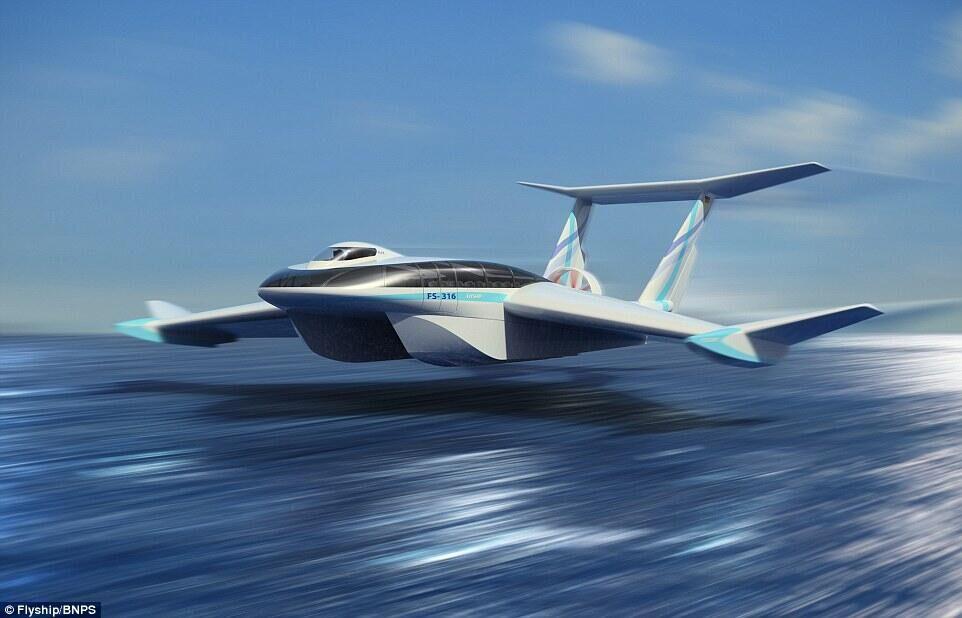 超炫酷未来交通工具!海空两用飞行船FlyShip设计曝光
