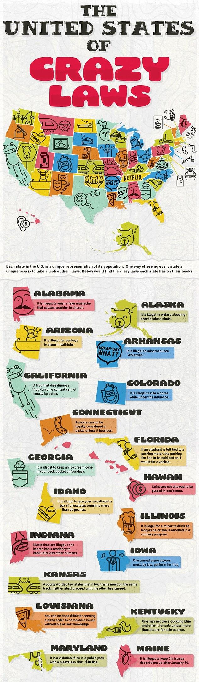 盘点:美国各州最奇葩法律