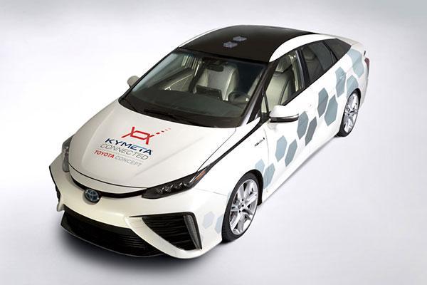 丰田车Kymeta卫星天线 速度快过4G网