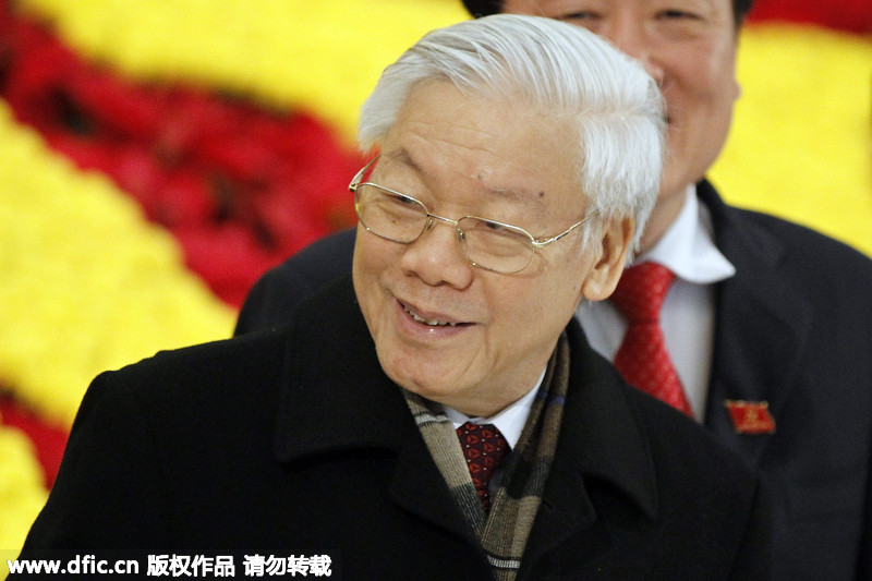 越共十二大闭幕 新一届领导层名单公布