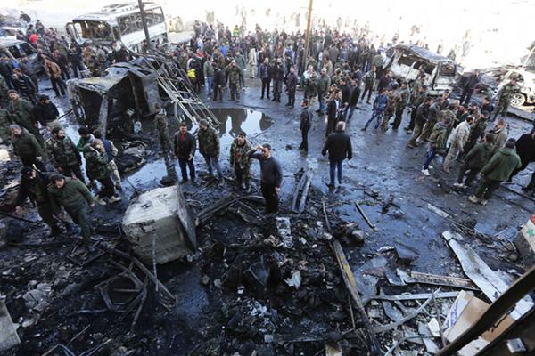 叙利亚现连环爆炸袭击致45死110伤 IS宣称负责