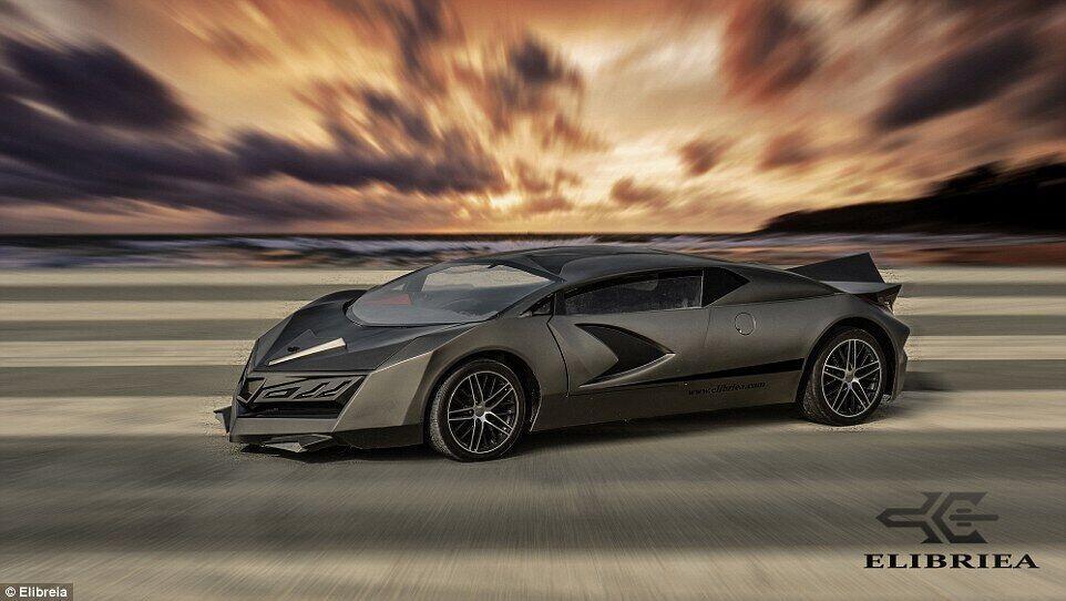 卡塔尔首款本土超跑亮相 碳纤维车身加金色喷漆