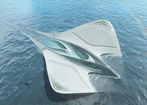 法国建筑师设计未来大学城 外型尤如魔鬼鱼