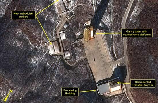 朝鲜火箭基地最新卫星照曝光
