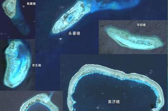 南沙有人驻守岛礁等比例对比图