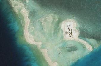 越南在南海造人工岛被台风摧毁