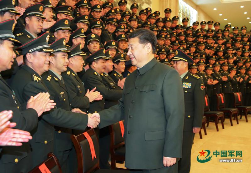 习近平看望驻赣部队 向全军致新春祝福(图)