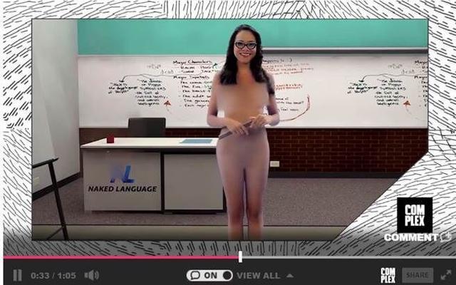 西班牙推线上英语教学 女老师近全裸授课(图)