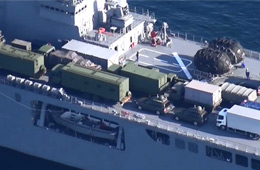 日本出动小平顶向冲绳运送拦截导弹
