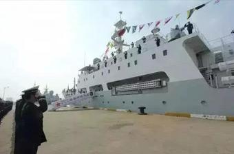 中国海军服役一艘新型测量船