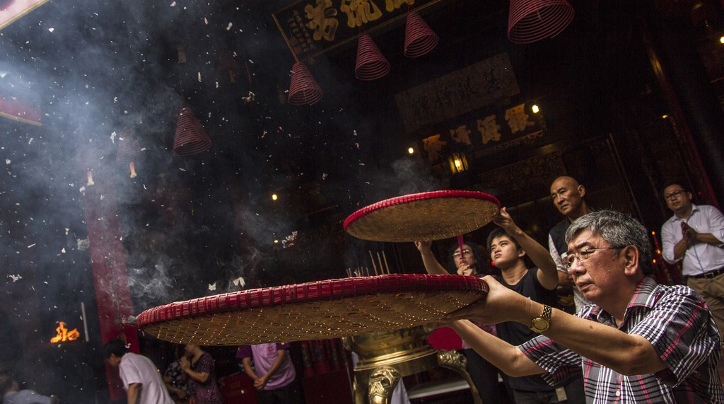 印尼华人举行仪式迎送神灵 庆祝春节到来