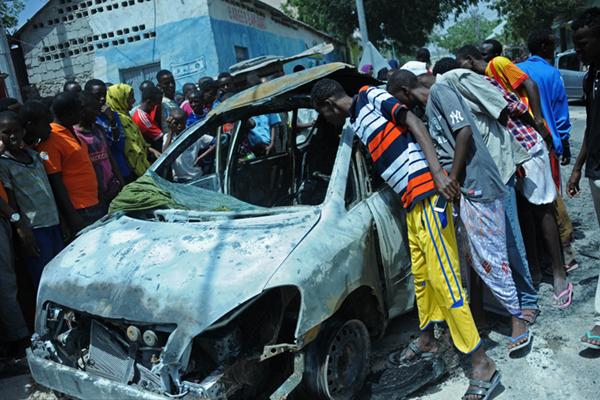 索马里首都发生汽车炸弹袭击 致三人死亡