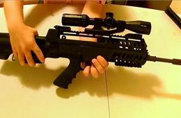 """枪支爱好者展示""""魔改""""97步枪过程"""