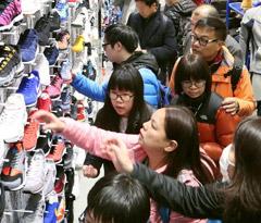 春节中国游客爆买日韩 主买电器奢侈品