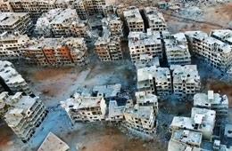 航拍叙利亚:大马士革旁的死寂之城
