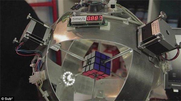 太阳系新纪录:德机器人0.887秒解开魔方