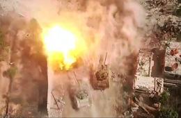 """航拍叙利亚:政府军的""""坦克大战"""""""