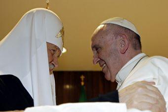 罗马教皇与俄东正教大牧首历史性会晤