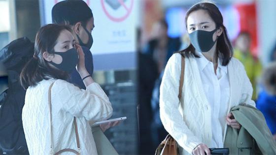 杨幂刘恺威同框现身机场 夫妻过年团聚