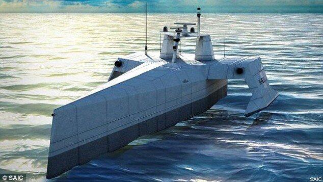 美军首艘反潜战持续追踪无人艇将于4月下水