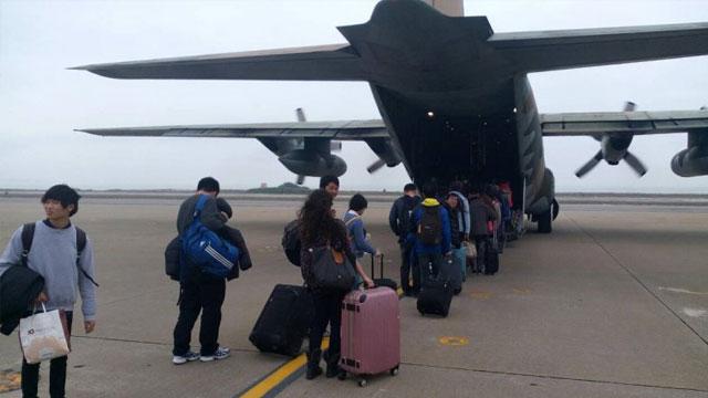 台湾也春运:用C130运送旅客