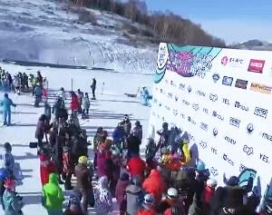 无人机航拍2016多乐美地山地回转障碍赛颁奖仪式
