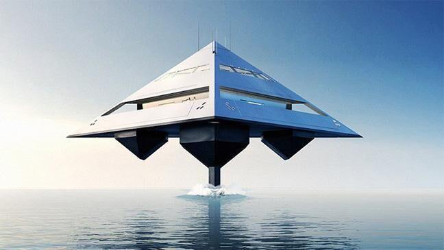 """英建筑师设计金字塔游艇 高速航行似海上""""飞行"""""""