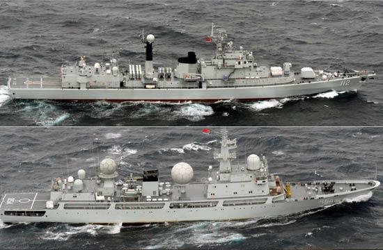 中国舰队绕行日本列岛近一周