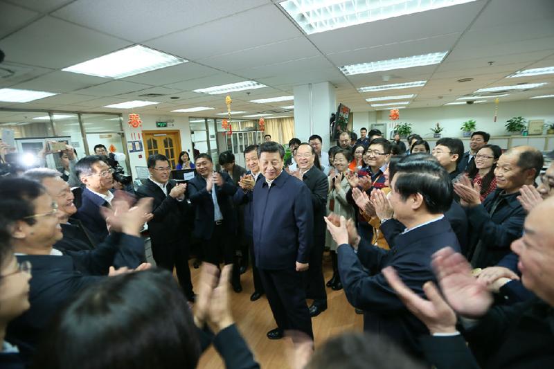 习近平旋风调研三大中央媒体 为全国新闻工作者点赞