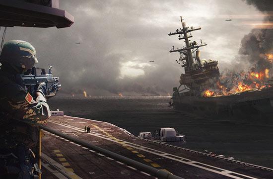 史诗般CG:中美航母钓鱼岛角斗