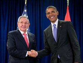 回顾:奥巴马和卡斯特罗举行双边会晤