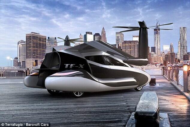 飞行汽车TF-X概念设计曝光 预计2018年试飞