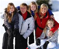 荷兰王室成员奥地利滑雪一家人其乐融融(图)