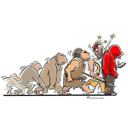 猿人进化矢量图