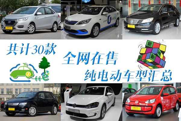 共计30余款 全网最新在售纯电动车型汇总