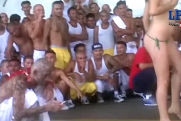 萨尔瓦多一监狱被曝为囚犯请脱衣舞娘庆祝节日