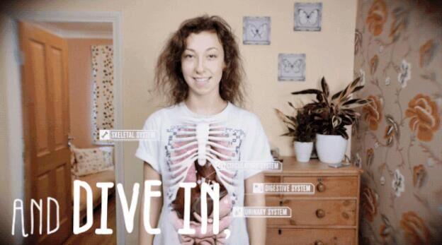 智能t恤搭配app帮助了解身体结构