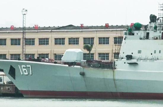 船厂中167深圳舰最新改装进展