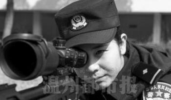 中国特警90后美女排爆手亮相 身份常吓跑相亲者
