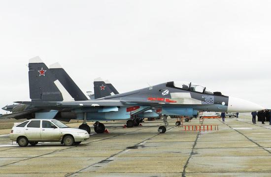 克里米亚俄军大秀苏30SM战机