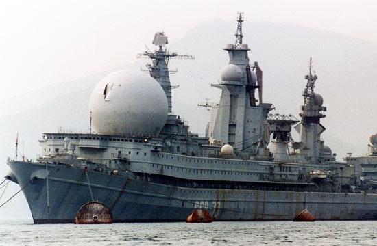世界最大电子侦察舰乌拉尔号