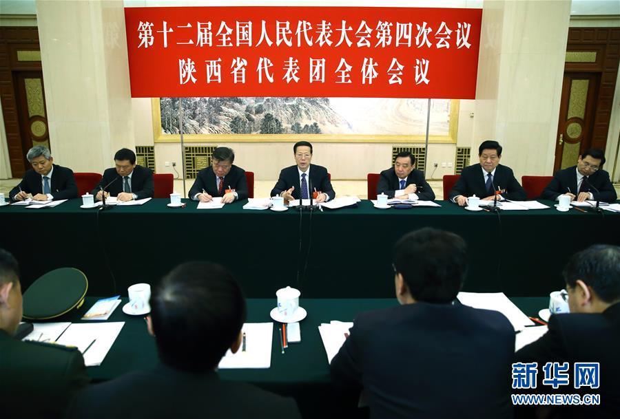 张高丽参加陕西代表团审议