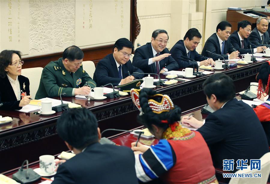 俞正声参加云南代表团审议