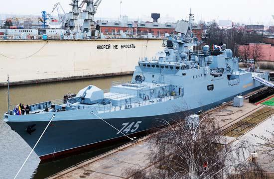 俄罗斯首艘11356型战舰服役