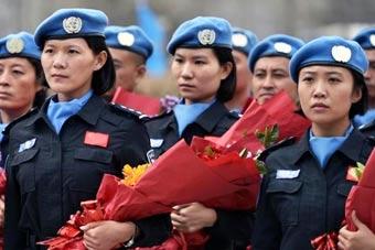 中国赴利比里亚维和女警凯旋