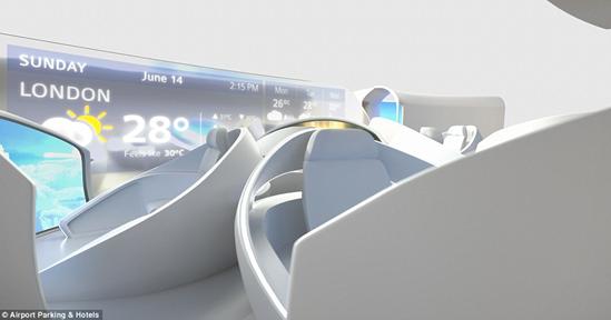 英团队打造2050年概念飞机:配备酒吧 可看3D电影