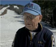 92岁二战老兵参加滑雪比赛:滑雪是我的初恋